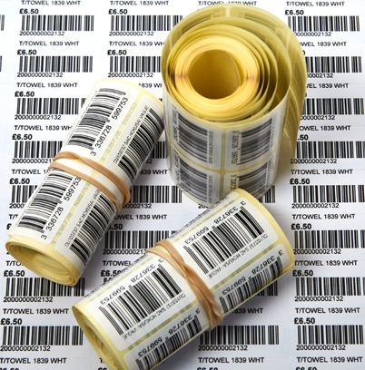 barcode stickers for bags, bag retail display for shopping and tote bags